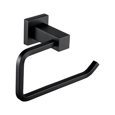 Vellamo Twist Matt Black Toilet Roll Holder